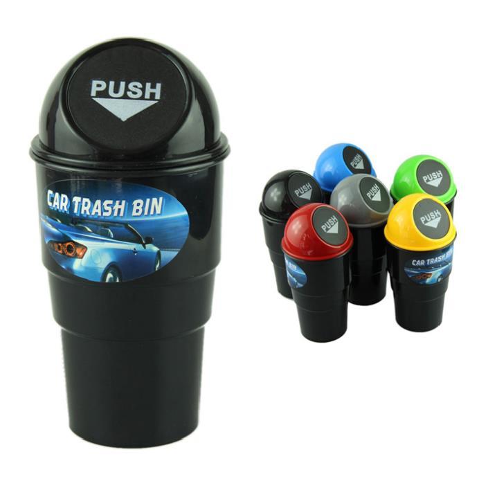 Fantastic CC1 NEW car garbage can Car Trash Can Garbage Dust Case Holder Bin ,free shipping(China (Mainland))