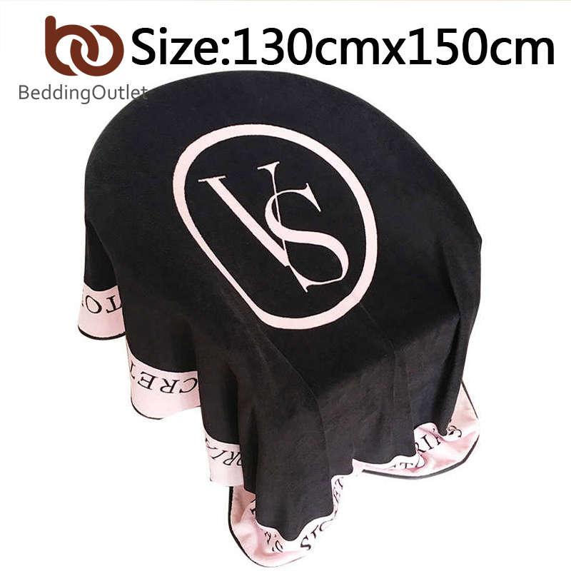 Black VS Secret Blanket font b Plaid b font Sofa mantas para cama Gift Fleece Blanket