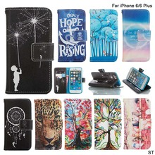 Fashion Fireworks Pattern Case Fundas For iPhone 6 4.7″ 6Plus Book Style Wallet Capa With Card Holder Cover For Apple 6/ 6 Plus
