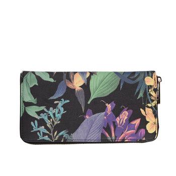 2014 новинка цветок день клатчи многослойная бумажник женщины сумка бесплатная доставка