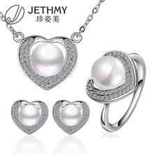 Hot sale 18k gold plated jewelry set jewelry 100%   real natural pearl Bijouterie Sets for women gift box S064fashion      (China (Mainland))