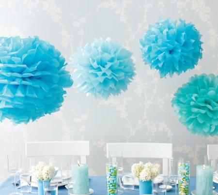buy poms 100pcs 12 39 39 30cm paper pom pom pompoms tissue wedding decorations. Black Bedroom Furniture Sets. Home Design Ideas