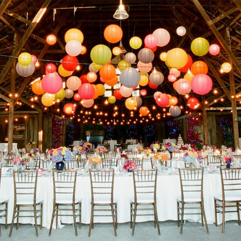 Free shipping 10pcs/lot 8''(20cm) Chinese paper lantern paper lamp wedding decoration 20 colors for