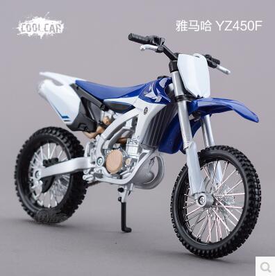 YZ 450F Yamaha 1:12 Maisto Motorcycle Model Mountain biking Mountain locomotive Toy collection boy gift blue Motocross(China (Mainland))