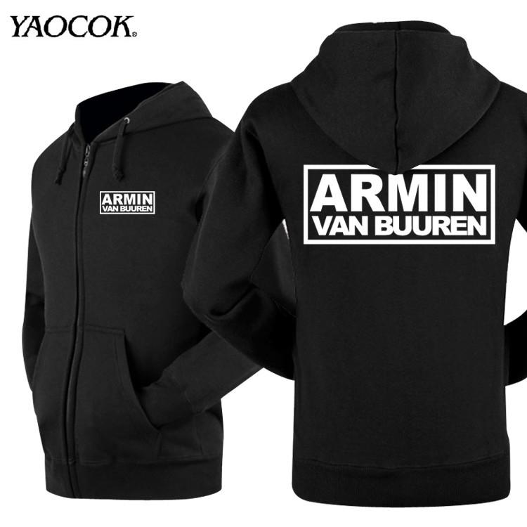 New 2015 Casual Outdoor Element Hoodies Men Hip Hop Sweatshirts Printed Armin Van Buuren Rock Band Mens Winter Jackets And Coats(China (Mainland))
