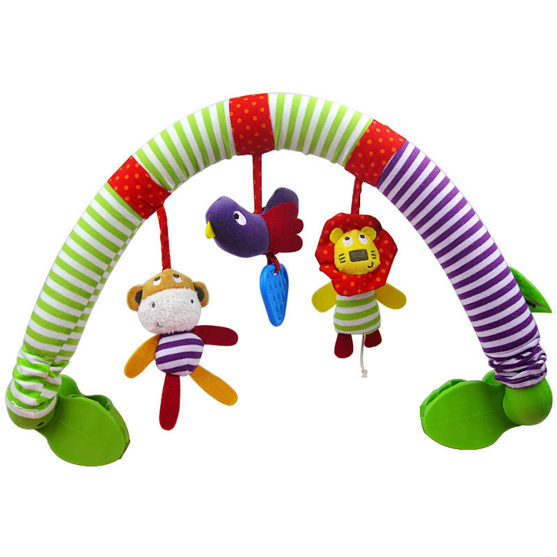 Baby Stroller Clip car mamas&papas Bed Hanging Crib Bed Rattles Seat baby Toys Cute Plush Toys Safe Toys Cognitive CG001(China (Mainland))