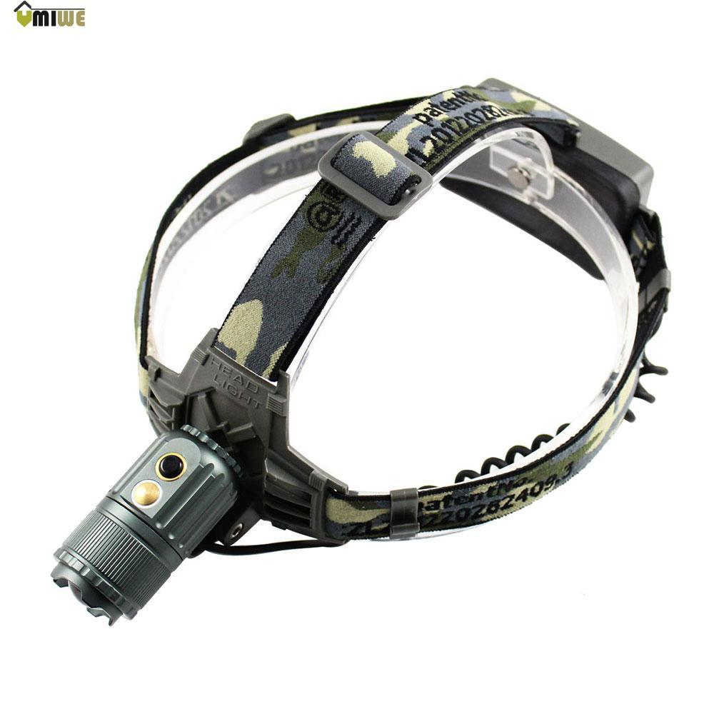 Umiwe CREE XM-L T6 700lm 3-Mode Touch Sensor Rotatable White LED Headlight Head Lamp (Bronze Color,Europe Plug)(China (Mainland))