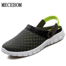 Big Size 36-46 Men's Summer Shoes Sandals Breathable Beach Flip Flops Mens Slippers Mesh Light Shoes Outdoor Slip On L927M(China (Mainland))
