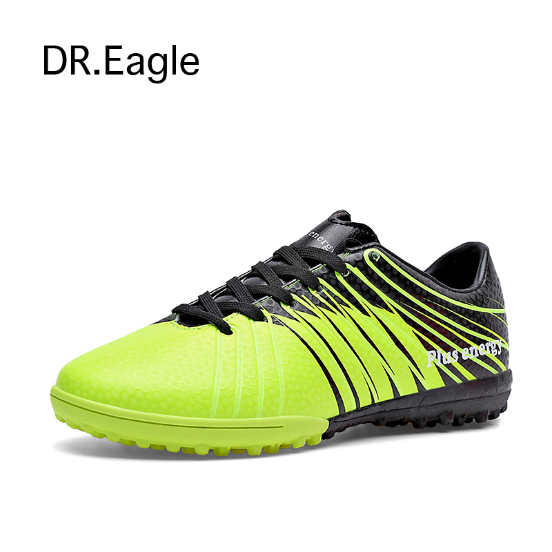 Man football shoes broken nail artificial grass wear soccer boots breathable TF sports indoor soccer shoes cleats plus size39-45(China (Mainland))