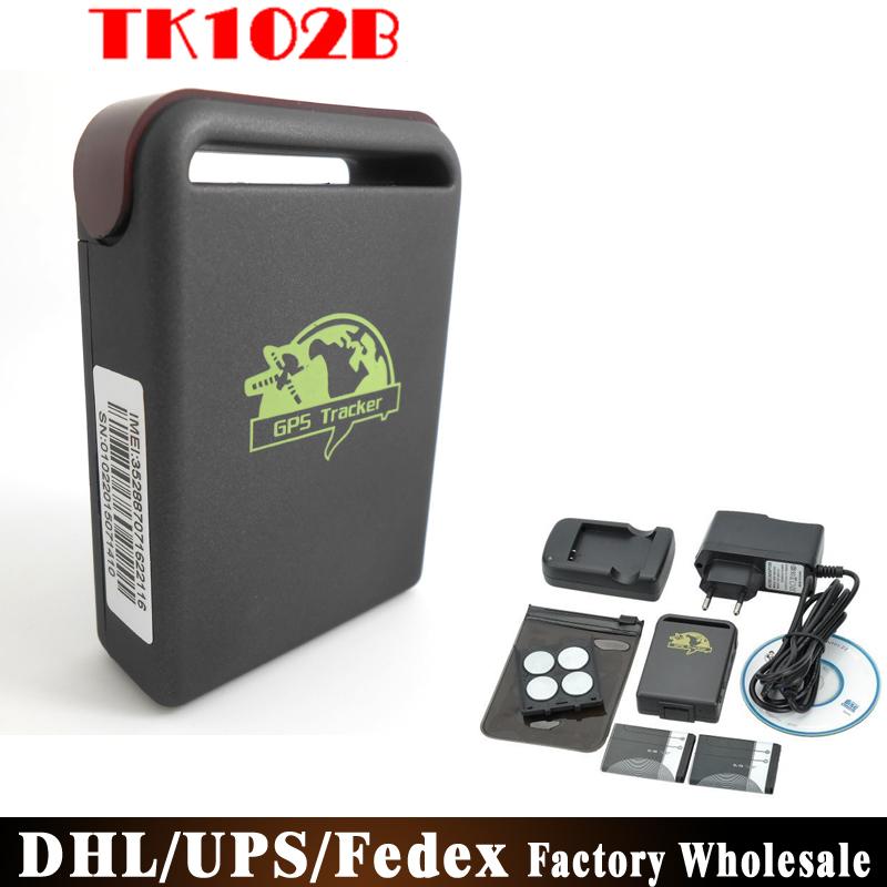 DHL/Fedex/UPS 80pcs/lot Factory Price Mini GSM GPRS GPS Tracker TK102B Tk102 Car Vehicle Tracking Locator(China (Mainland))