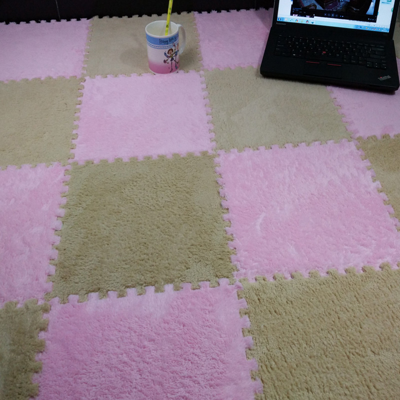 1 PCS Baby Blankets Pad Foam Floor Long Fur Eva Crawling Cutting Area Rug Carpet for Child Kid Living Room Bedroom Hengli Trade(China (Mainland))