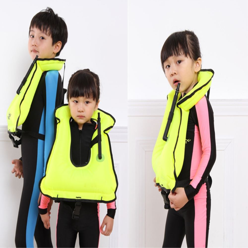 Inflatabl Swimming Life Jacket Vest Waterproof life jackets For Children Drifting Boating Survival Fishing Safety Adult Kids(China (Mainland))