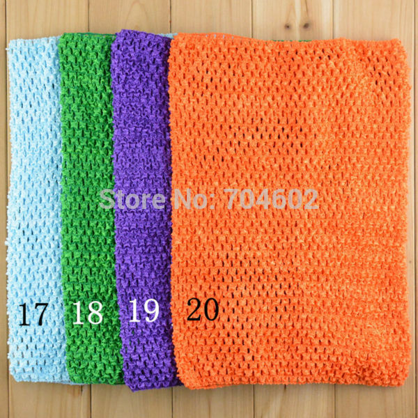 "3pcs/lot 2014 New fashion color Crochet Tube Tops 12"" big size for Girls Pettiskirt Free Shipping #H025"