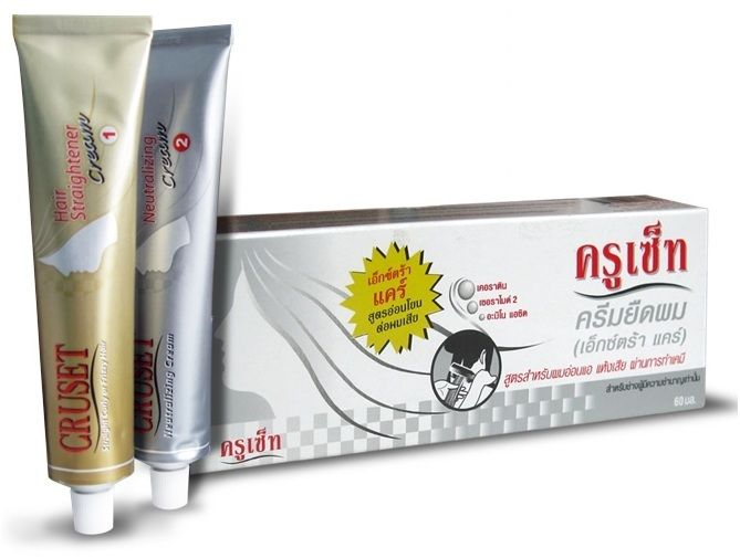 Free Shipping 60 ml.Cruset Keratin hair straightening treatment Straight with Cream Kit + Trac