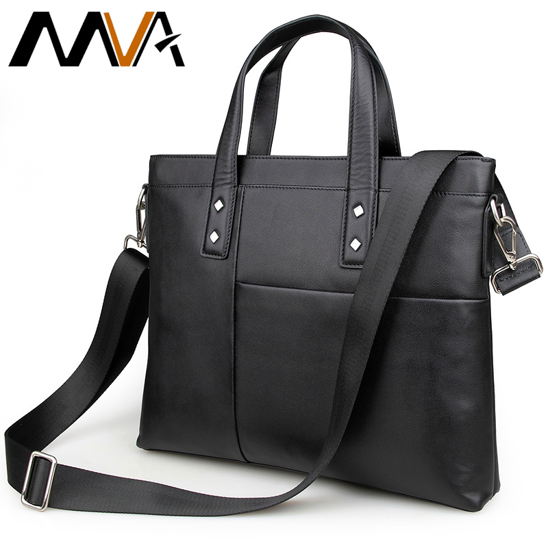 Top Genuine Cowhide Leather Men Bags Fashion Handbags Men's Briefcase New Laptop Shoulder Bags Business Men Cross body Bag 7329(China (Mainland))