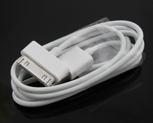 5pcs 1m white  USB Sync Data Charger Cable  for Apple iPhone 3GS 4 4S 4G  iPod nano touch Adapter   + Drop shipping #37