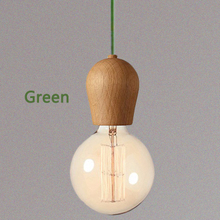 Modern Wood Pendant Lights Dining Room Cord Pendant Lamp Hanging Lighting Light Fixtures E27 Base Bedroom Suspension luminaire(China (Mainland))