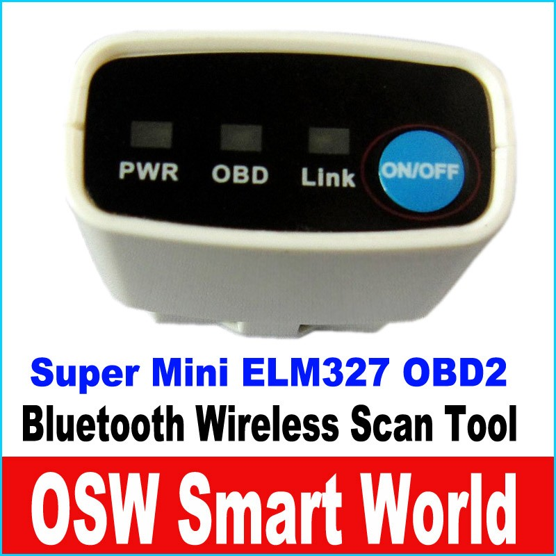 Super Mini ELM327 V2.1 Bluetooth OBD2 Car Diagnostic Tool Auto Diagnostic Scanner Tool For Android IOS Sysetem(China (Mainland))