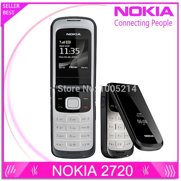 Refurbished Original 2720F Nokia 2720 Fold Unlocked Cell Phone Bluetooth Jave One Year Warranty Free Shipping(China (Mainland))