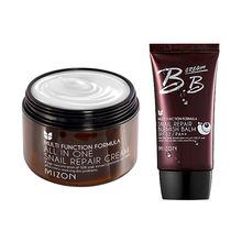 MIZON One Snail Cream 120ml [Super Size] + BB (SPF32/PA++) 50ml Face Skin Care Facial Korean Cosmetics - Foshan DBC Soap Store store