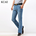 Free Shipping High Quality New Arrival Men's Jeans Slim Bell-bottom Boot Cut Pants Male Dark Blue Denim Flares Trousers 27-33