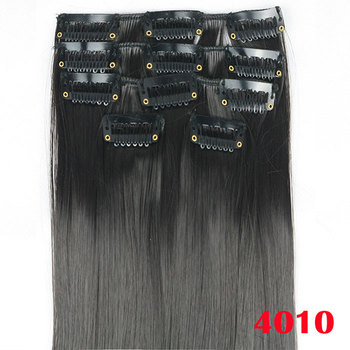 Long Straight Clip-In Hair Extensions (5pcs/lot)