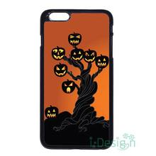 Fit for iPhone 4 4s 5 5s 5c se 6 6s 7 plus ipod touch 4/5/6 back skins cellphone case cover Halloween Pumpkin Bat Castle