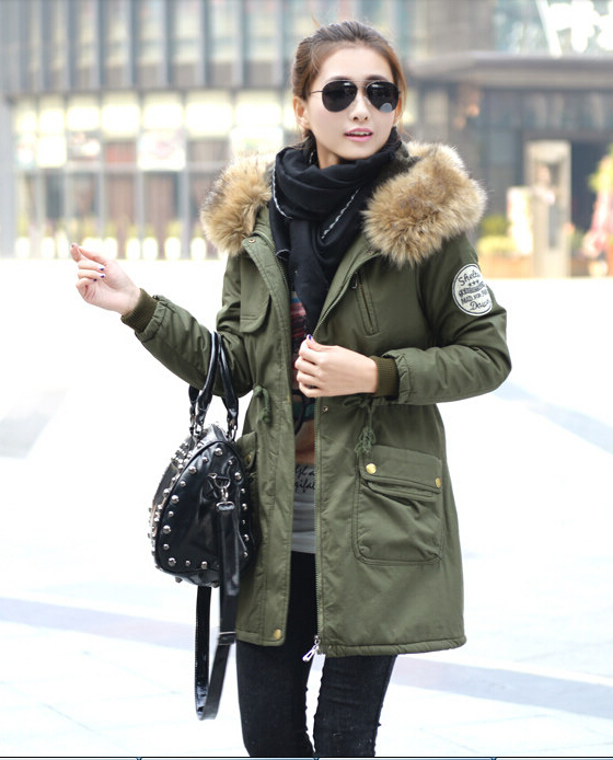HOT ! 2015 Winter Jacket women female Parka Hoodie cotton-padded thick jackets coat fur Parkas woman plus size M-4XL - cockroach xiaoqiang store