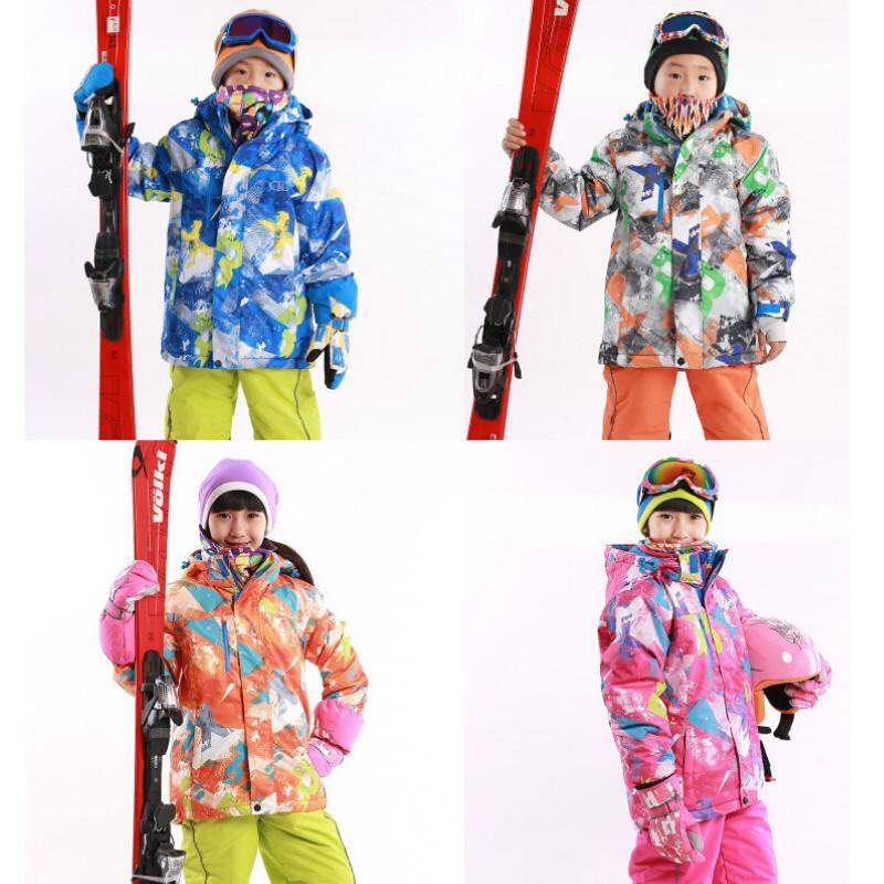 2017 Winter Outdoor Children's Skiing Jackets Snowboarding Coat Kids Sports Mountaineering Clothing Boys Girls Ski Jacket - Sporting Store store