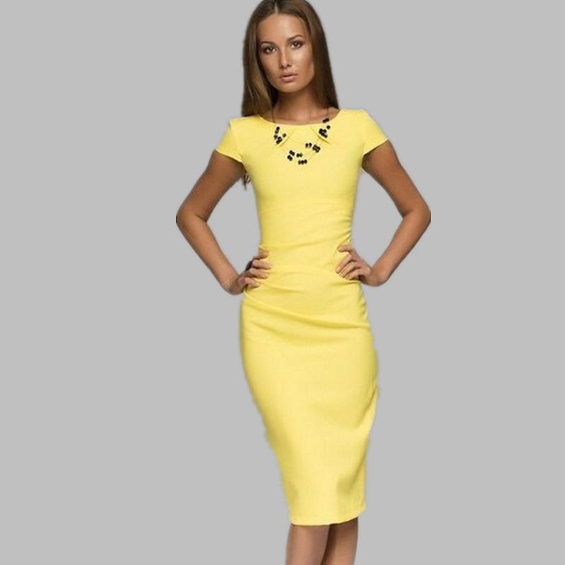 Желтое платья