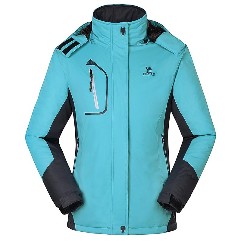 Brand hiking jacket Women Winter Thick Wind Waterproof ski Jacket Keep -warm Coat Camping Plus Size 4 Colors 8301B# - Outdoor Traveler Store store