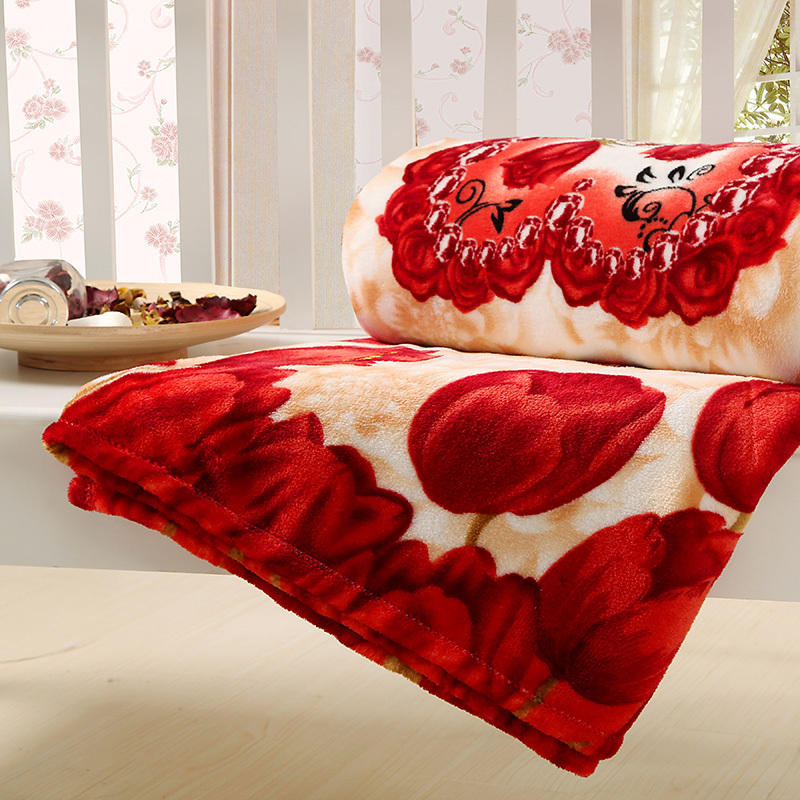 Super warm! winter Brown plaid blanket 100% coral fleece fabric blanket warm plush bedsheet 2x2.3cm discount(China (Mainland))
