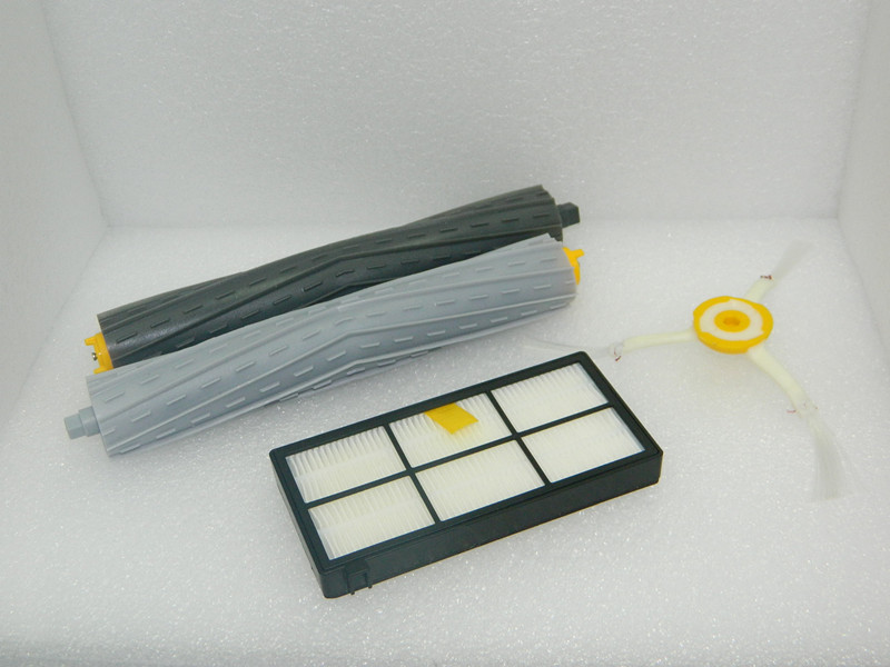 Tangle-Free Debris Extractor Set +Side Brushes + Hepa Filters replacement Kit For irobot roomba 880 vacuum cleaner(China (Mainland))