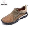 Hot Sale 2016 AQUA TWO Outdoor Shoes Breathable Shoes Men Trekking Walking Slip On Mesh Shoes
