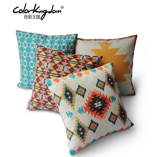 indischen stil geometrische muster baumwolle leinen hause kissen komfortable. Black Bedroom Furniture Sets. Home Design Ideas