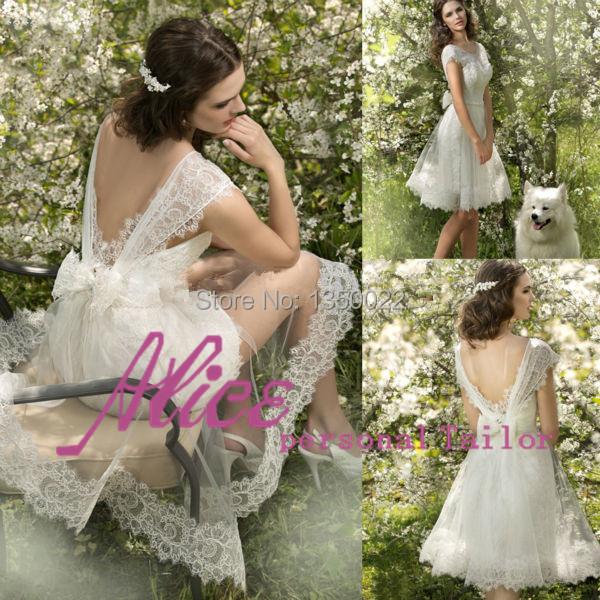 Vestidos formatura до колена пром платье открытая задняя часть глубокий круглый вырез кепка рукава платье abendkleider