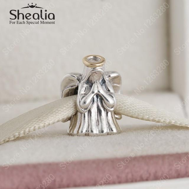 Настоящее 14 К золотая корона ангел подвески 2015 зима 925 серебро изысканные украшения для женщин браслеты сделай сам ювелирное BD321