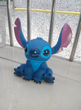 Free Shipping 1X Creative Cartoon Stitch Coin Piggy Bank Money Box Coin Bank For Christmas Gift Birthday Gift(China (Mainland))