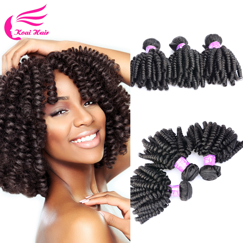 New Crochet Braid Hair 4 Bundles Brazilian Kinky Curly Virgin Hair ...