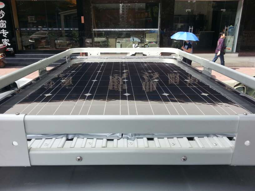 200w semi-flexible solar panels RV camping driving power conversion(China (Mainland))
