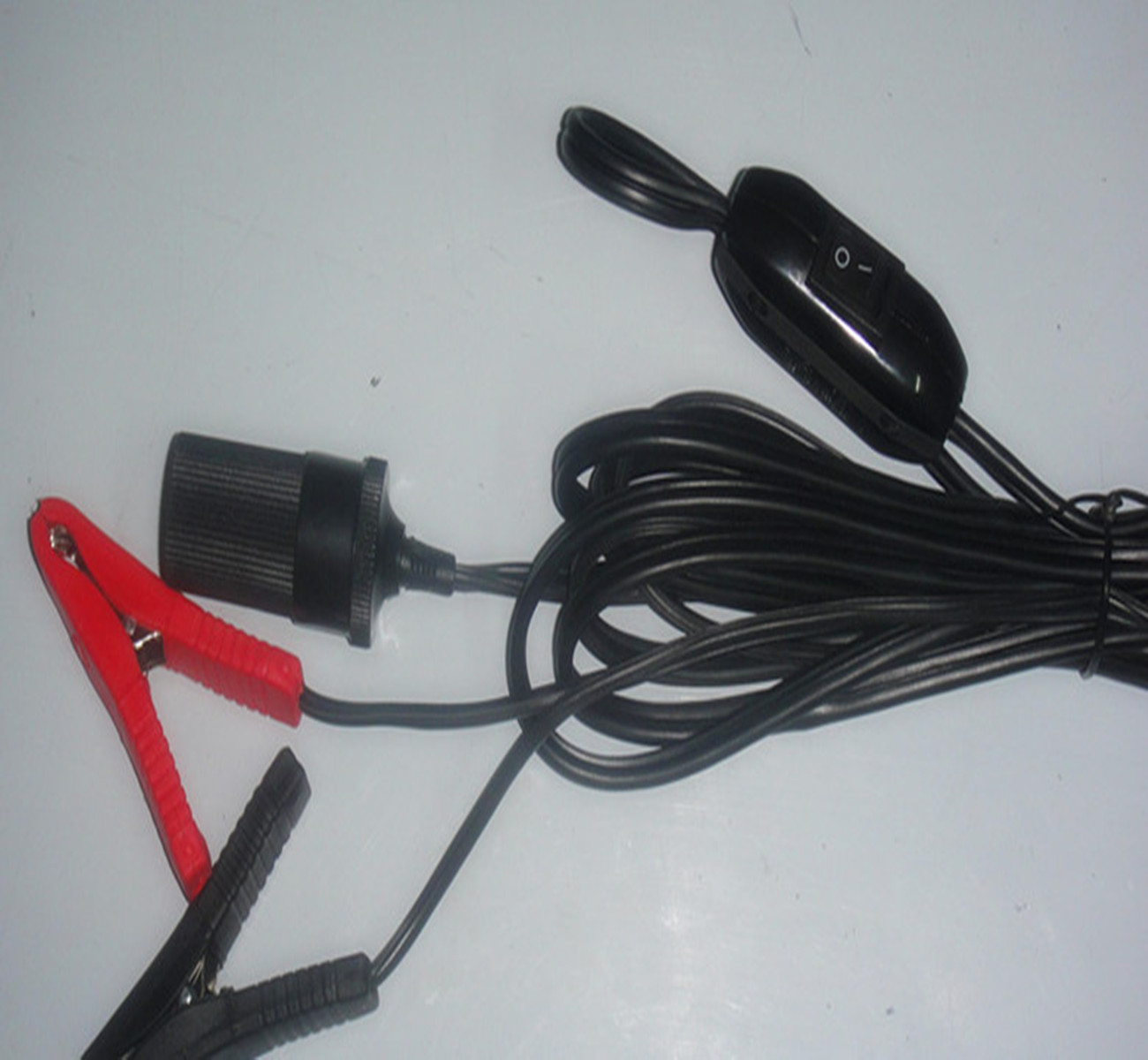 Car Battery Cable Extension : Alligator clips turn the car cigarette lighter female m