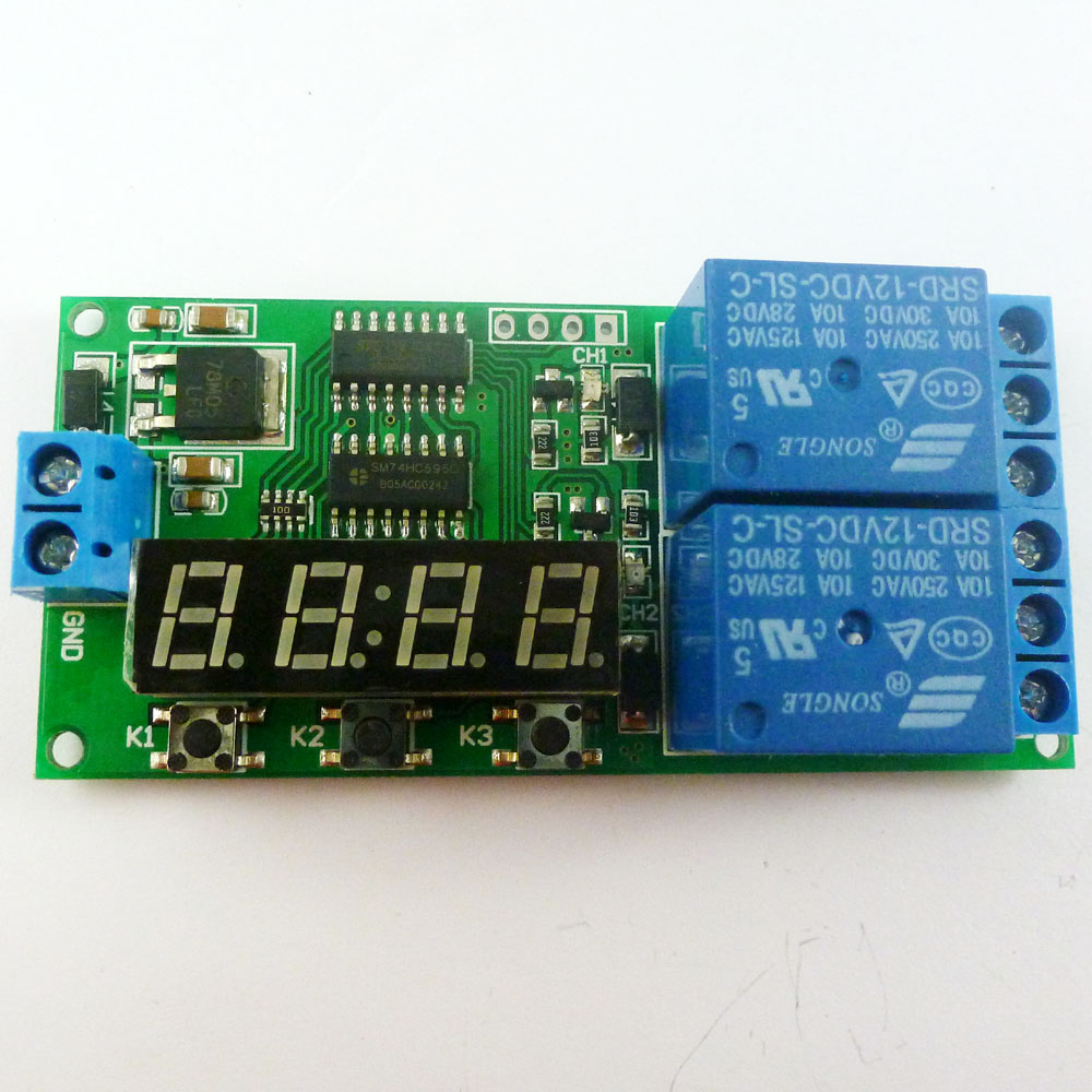 Dc 12v 9 Function Delay Relay Controller Motor Reverse Cyclic Timers Winch Wire Diagram Kc22b02 1