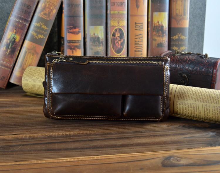 Многофункциональный человек кошелек из натуральной кожи сумка мешок руки кошелек глава слой коровьей клатч кошелек