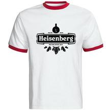 Высокое качество сообщаем футболки мужчины гейзенберг футболка уолтер уайт человек рубашка свободного покроя мужской вершины тройники бесплатная доставка