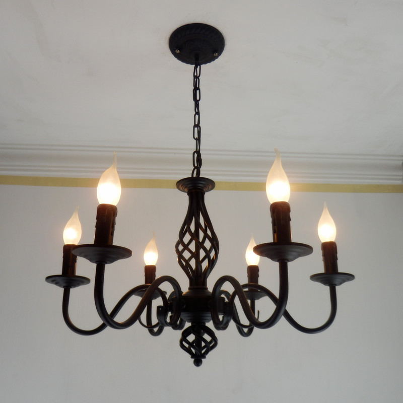 Dining room candle chandelier