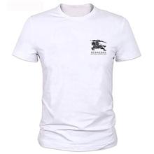 2019 Verão Novo Chefe da Alfândega do Seu PRÓPRIO Design de Logotipo Da Marca/Imagem T Shirt Dos Homens de Alta qualidade Roupas Plus Size tshirt Homme(China)