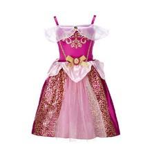 2015 Baby Girls Cinderella Dresses Children Snow White Princess Dresses Rapunzel Aurora Kids Party Costume Clothes