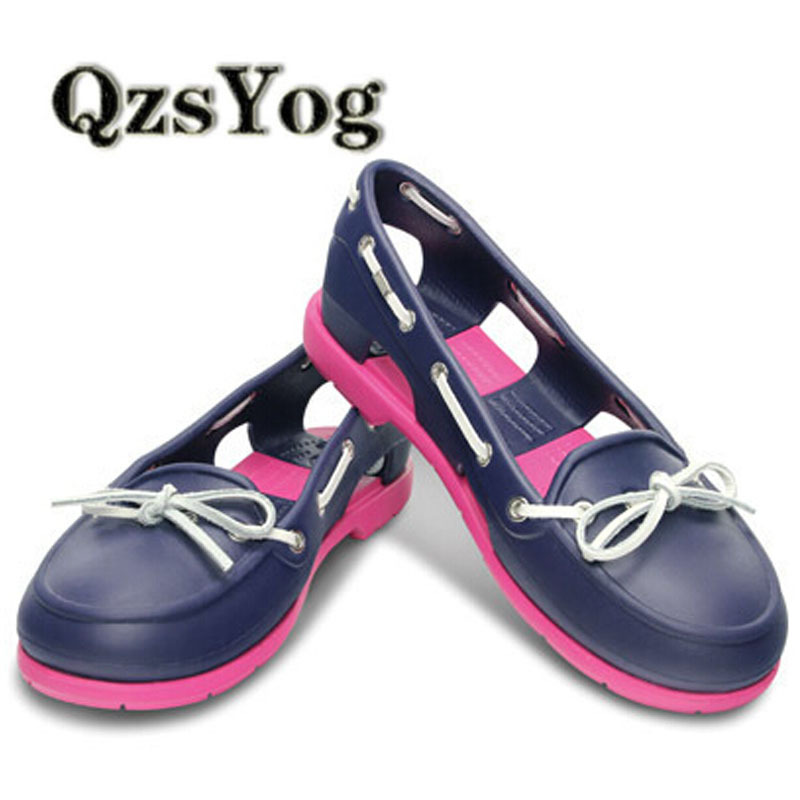 Hot 2015 summer fashion EVA women flats leather shoes bow  causal flats woman shoes flexible outdoor loafer slip-on boat shoes<br><br>Aliexpress