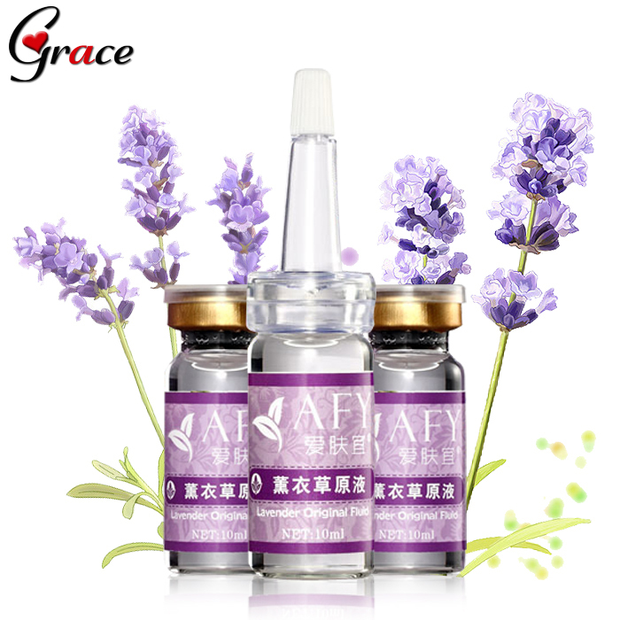 afy 2PCS lavender acne treatment Repair scar concentrate skin whitening cream Shrink pores ageless Essence 10ml Free Shipping(China (Mainland))