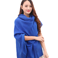 HOT SALE Women Lady Spring Autumn Great Neck Long Voile Scarf Shawl Wrap Della Stole Solid